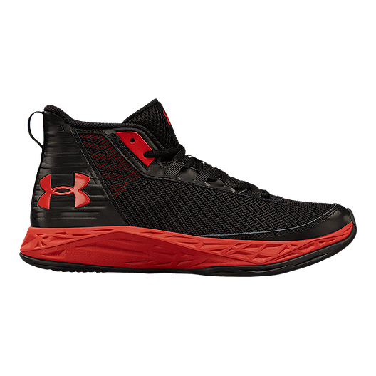 6a8f844d Under Armour Kids' Jet 2018 Grade School Basketball Shoes - Black/Red