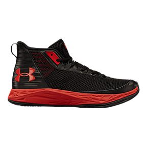 7a78053e8054 Under Armour Kids  Jet 2018 Grade School Basketball Shoes - Black Red