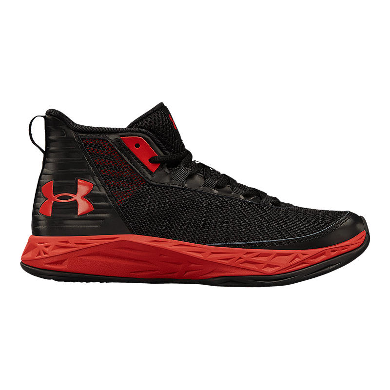 18951d6b41d5 Under Armour Kids  Jet 2018 Grade School Basketball Shoes - Black Red
