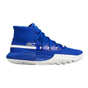 bcf41a94949b Under Armour Kids  SC 3ZERO II Grade School Basketball Shoes - Royal White