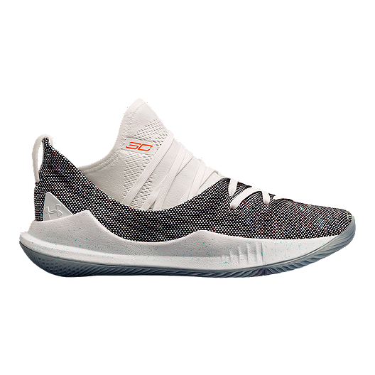 3a2a1976f510 Under Armour Kids  Curry 5 Grade School Basketball Shoes - White Neon Coral