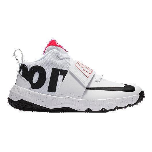 new product 91e01 f8dba Nike Kids  Team Hustle D 8 JDI Grade School Basketball Shoes - White Black  Grey   Sport Chek