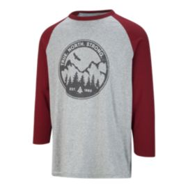 Woods Men's Assiniboine Baseball T Shirt - Red/Grey