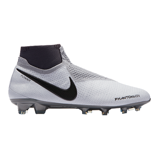 b755799c9cb Nike Men s Phantom Vision Elite DF FG Soccer Cleats - Platinum Crimson Grey  -