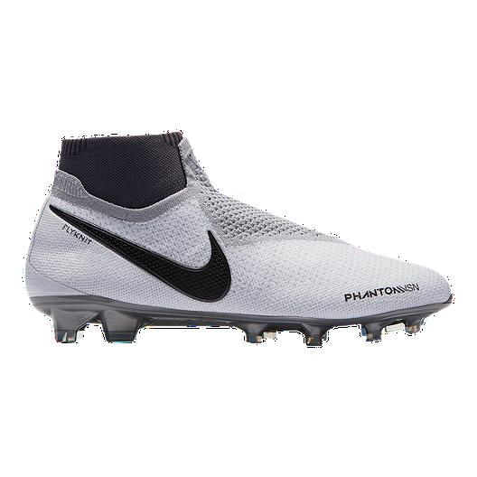 29e3493be Nike Men's Phantom Vision Elite DF FG Soccer Cleats - Platinum/Crimson/Grey  | Sport Chek
