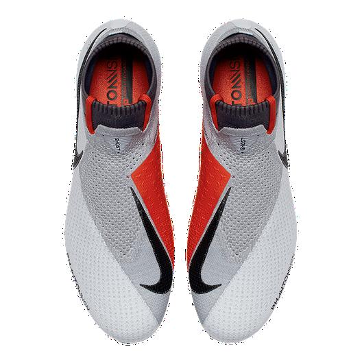 4437062bbde Nike Men s Phantom Vision Elite DF FG Soccer Cleats -  Platinum Crimson Grey. (0). View Description