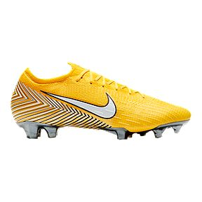 24fd000fbe Nike Men s Neymar Jr Mercurial Vapor 12 Elite FG Soccer Cleats -  Yellow Black