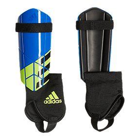 adidas X Youth Shin Guards - Football Blue Black Solar Yellow 8ba0eb50e0