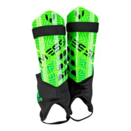 adidas Messi 10 Youth Shin Guards - Solar Green/Solar Lime/Black