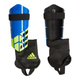 adidas X Club Shin Guards - Football Blue/Black/Solar Yellow