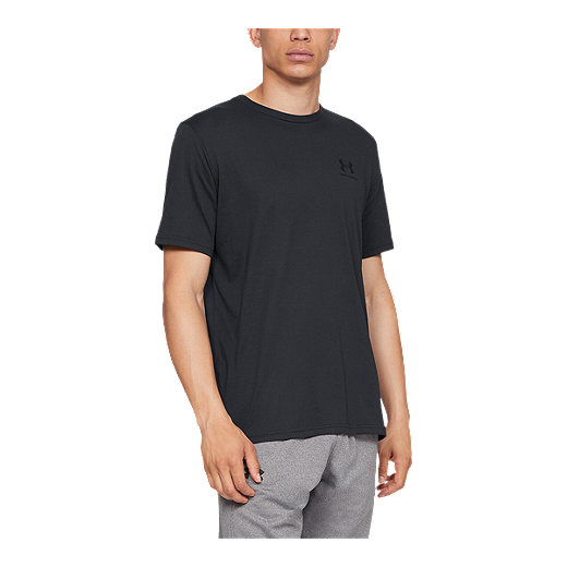 0462a65b Under Armour Men's Charged Cotton Sportstyle Left Chest T Shirt - BLACK