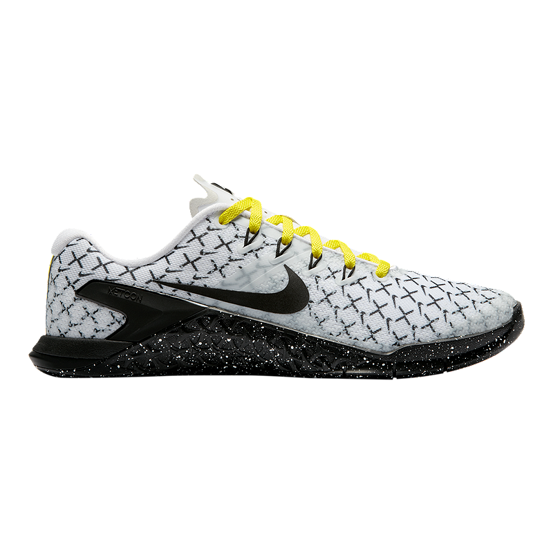 Nike Women s Metcon 4 AMP Training Shoes - White Black Yellow ... 6707283dc