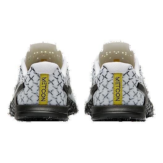 5f9838cd0e5 Nike Women's Metcon 4 AMP Training Shoes - White/Black/Yellow