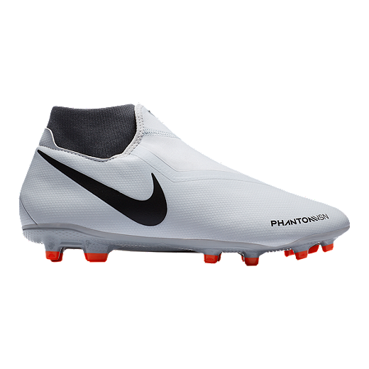 55ca7f94c45 Nike Men s FTR10 Obra 3 Academy FG Soccer Cleats - Platinum Crimson Grey -