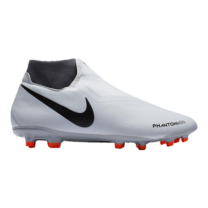 Nike Men s FTR10 Obra 3 Academy FG Soccer Cleats - Platinum Crimson Grey  bfed9c98d