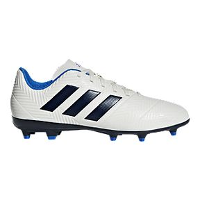 adidas Women s Nemeziz 18.4 FG Outdoor Soccer Cleats - Cream Navy 955631acf9