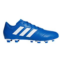 9b1ff17bcf481e image of adidas Men s Nemeziz 18.4 FG Soccer Cleats - Blue White with sku