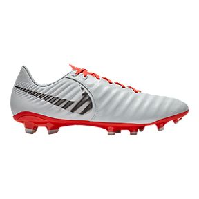Nike Women s Tiempo Legend 7 Academy MG Soccer Cleats - Light Grey Crimson 03a2cc07d6