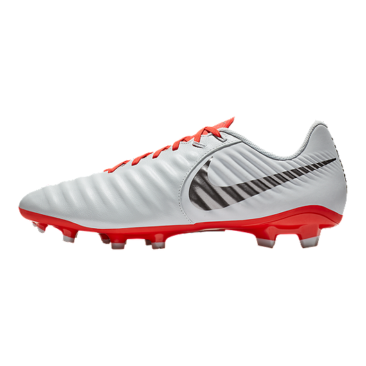 the best attitude 991ec 7269f Nike Unisex Tiempo Legend 7 Academy MG Soccer Cleats - Light Grey/Crimson