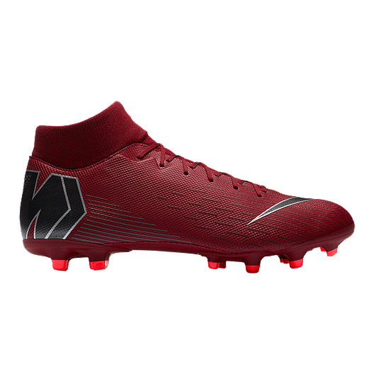 f84a7e166 Nike Unisex Mercurial Superfly 6 Academy FG Soccer Cleats - Burgundy Grey
