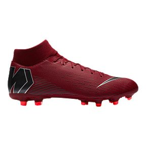 huge selection of f1fa2 e46ae Nike Unisex Mercurial Superfly 6 Academy FG Soccer Cleats - Burgundy Grey