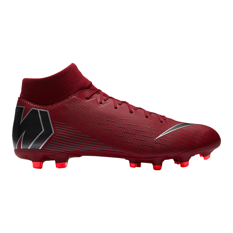 54ea5571fff3 Nike Unisex Mercurial Superfly 6 Academy FG Soccer Cleats - Burgundy Grey