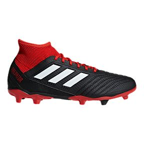 717e84b6b adidas Men's Predator 18.3 FG Soccer Cleats - Black/Red/White