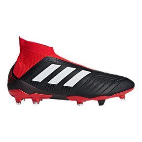 adidas Men s Predator 18+ FG Soccer Cleats - Black Red White 0528d7588