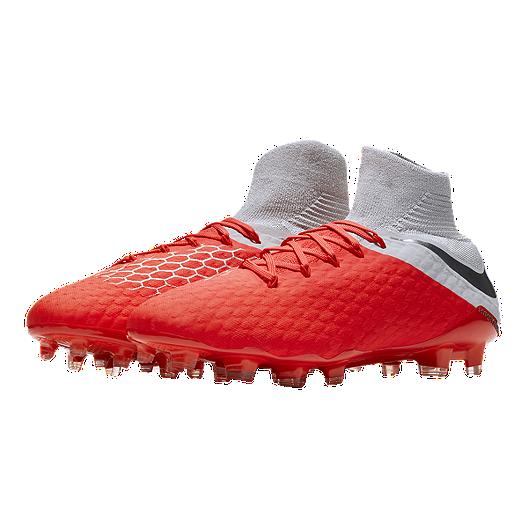 Super carino Sneakers 2018 comprare Nike Men's Hypervenom Phantom III Pro DF FG Soccer Cleats - Red/Grey