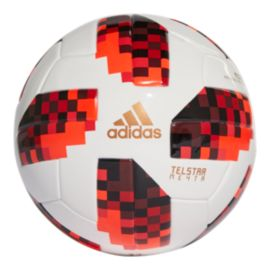 adidas World Cup Knockout Mini Soccer Ball - White/Solar Red