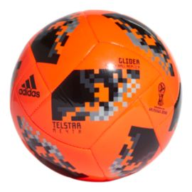 adidas World Cup Knockout Size 5 Glider Soccer Ball - Solar Red/Black