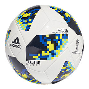 adidas World Cup Knockout Size 5 Glider Soccer Ball - White/Night Indigo