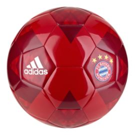 adidas FC Bayern Munich Soccer Ball - True Red/Strong Red