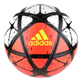 adidas Glider Size 5 Soccer Ball - White/Solar Red/Solar Yellow
