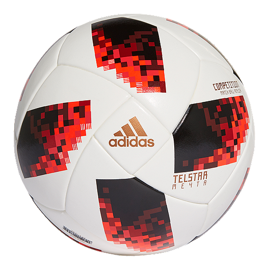 online retailer half off better adidas World Cup Knockout Competition Soccer Ball - White/Solar Red/Black