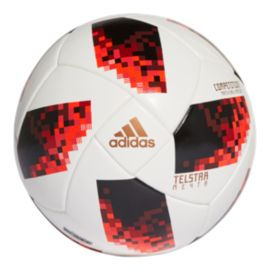 adidas World Cup Knockout Competition Soccer Ball - White/Solar Red/Black