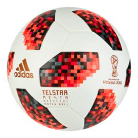 adidas World Cup Knockout Official Match Soccer Ball - White/Solar Red