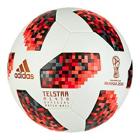 check out f8b84 76c52 adidas World Cup Knockout Official Match Soccer Ball - White Solar Red