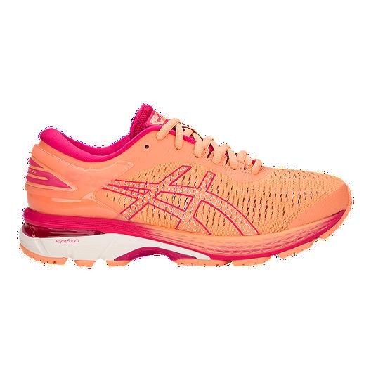 fa66decef7d ASICS Girls  Gel Kayano 25 Grade School Running Shoes - Mojave White ...