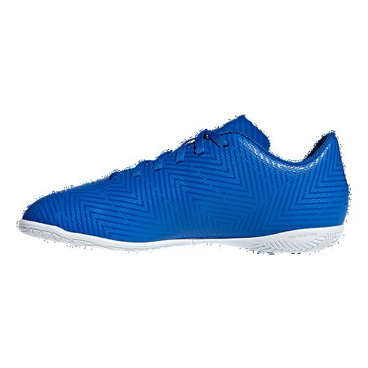 641a34d47dc2 adidas Boys' Nemeziz Tango 18.4 Indoor Grade School Soccer Shoes - Football  Blue/White