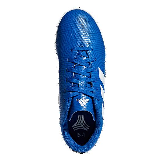 f6d0d2679470 adidas Boys' Nemeziz Tango 18.4 Indoor Grade School Soccer Shoes - Football  Blue/White. (0). View Description