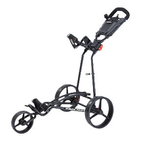Big Max Auto-fold Plus 3-Wheel Cart - Black