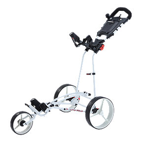 Big Max Auto-fold Plus 3-Wheel Cart - White