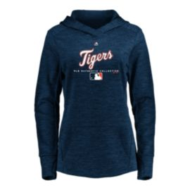 Detroit Tigers Majestic Women's Authentic Team Drive Hoodie