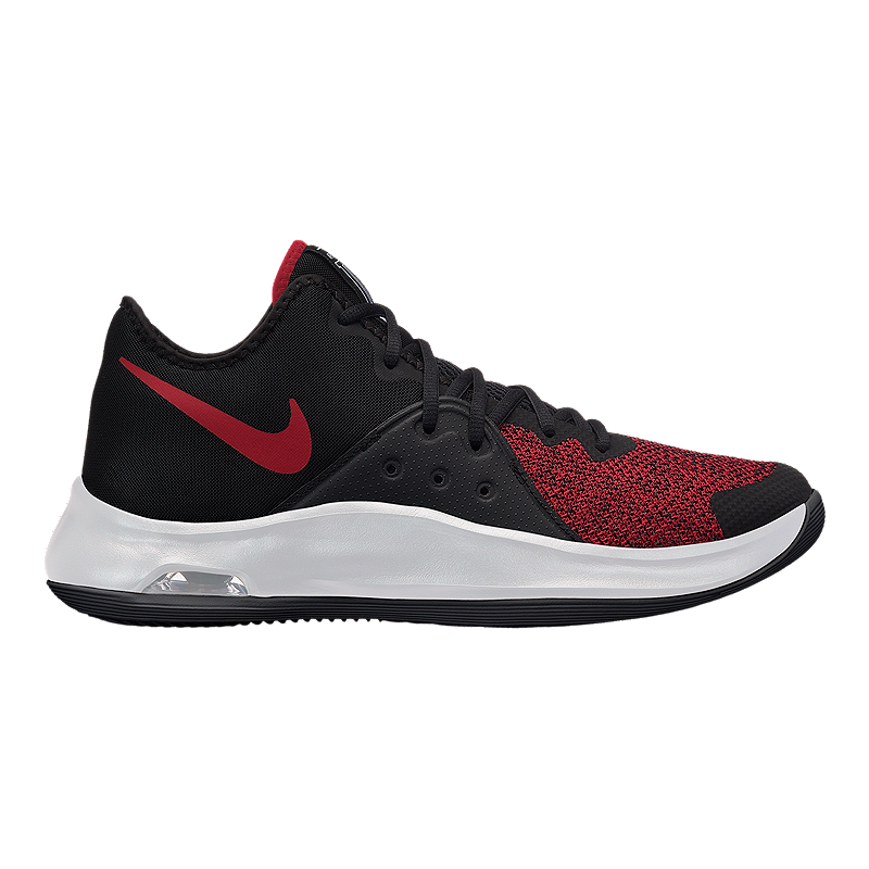 f96ae8a4ead5 Nike Men s Air Versatile III Basketball Shoes - Black Red White ...