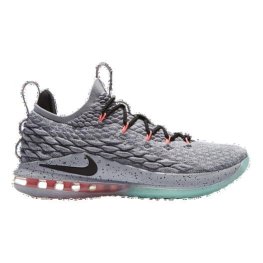 a4b3a927d97c Nike Men s LeBron XV Low Basketball Shoes - Grey Black