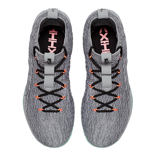 4e9e0fade78 Nike Men s LeBron XV Low Basketball Shoes - Grey Black. (2). View  Description