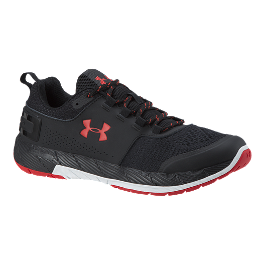 quality design 67dc7 07bbf Under Armour Men's Commit TR EX Training Shoes - Black/Black/Red