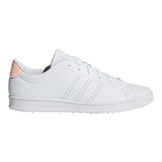 2fe351dd43e7b adidas Women s Advantage Clean QT Shoes - White Orange - WHITE