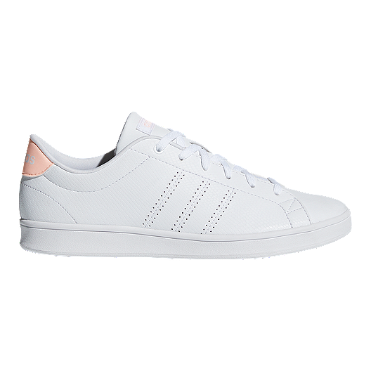 on sale 16d73 33a14 adidas Women s Advantage Clean QT Shoes - White Orange   Sport Chek